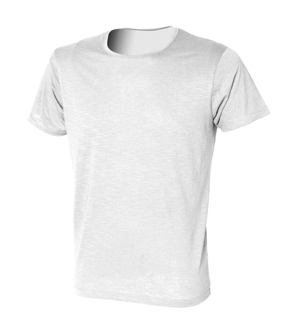 Skinni Fit Mens Slub T-Shirt (White) - UTRW1391