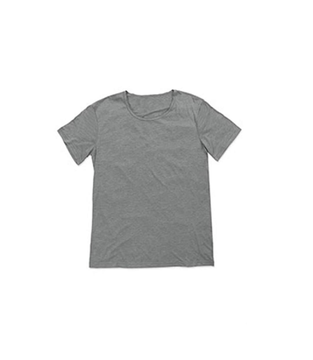 Stedman Mens David Melange Oversized Crew Neck Tee (Vintage Grey) - UTAB395