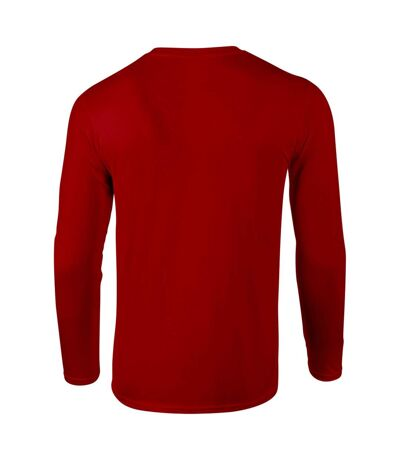 Gildan Mens Soft Style Long Sleeve T-Shirt (Pack Of 5) (Red) - UTBC4808