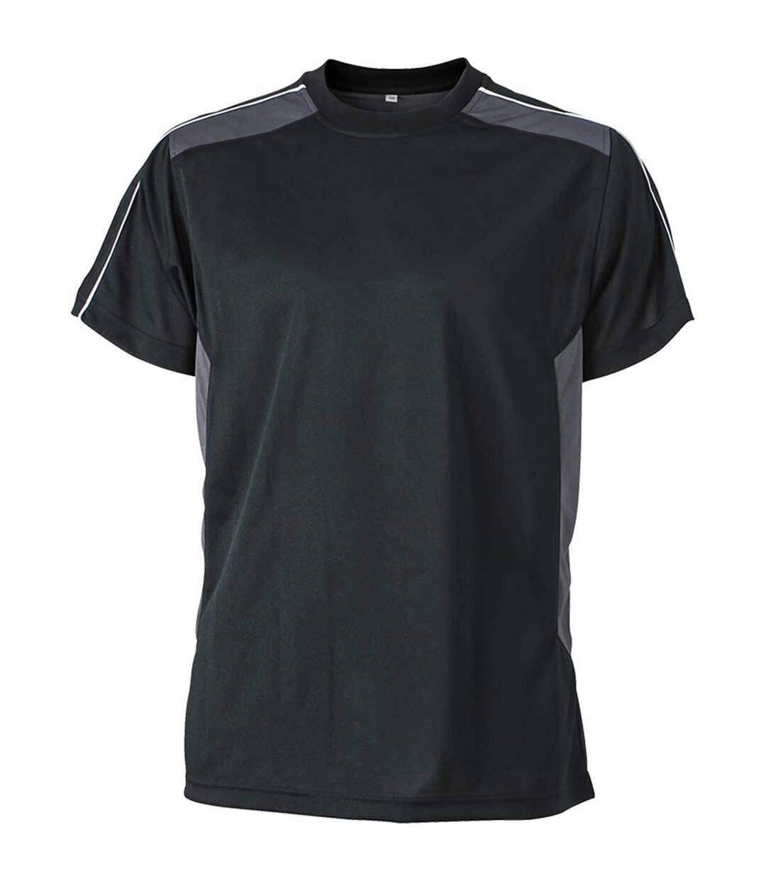 T-shirt artisan anti-bactérien anti-statique - JN827 - noir