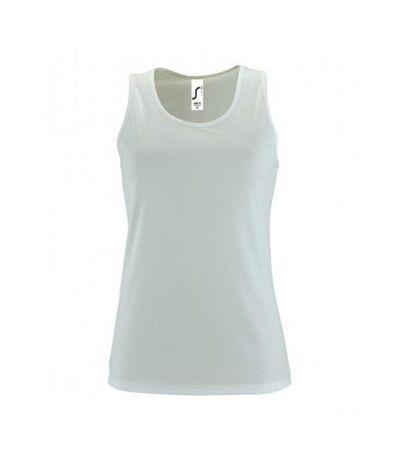 SOLS Womens/Ladies Sporty Performance Sleeveless Tank Top (White) - UTPC3132