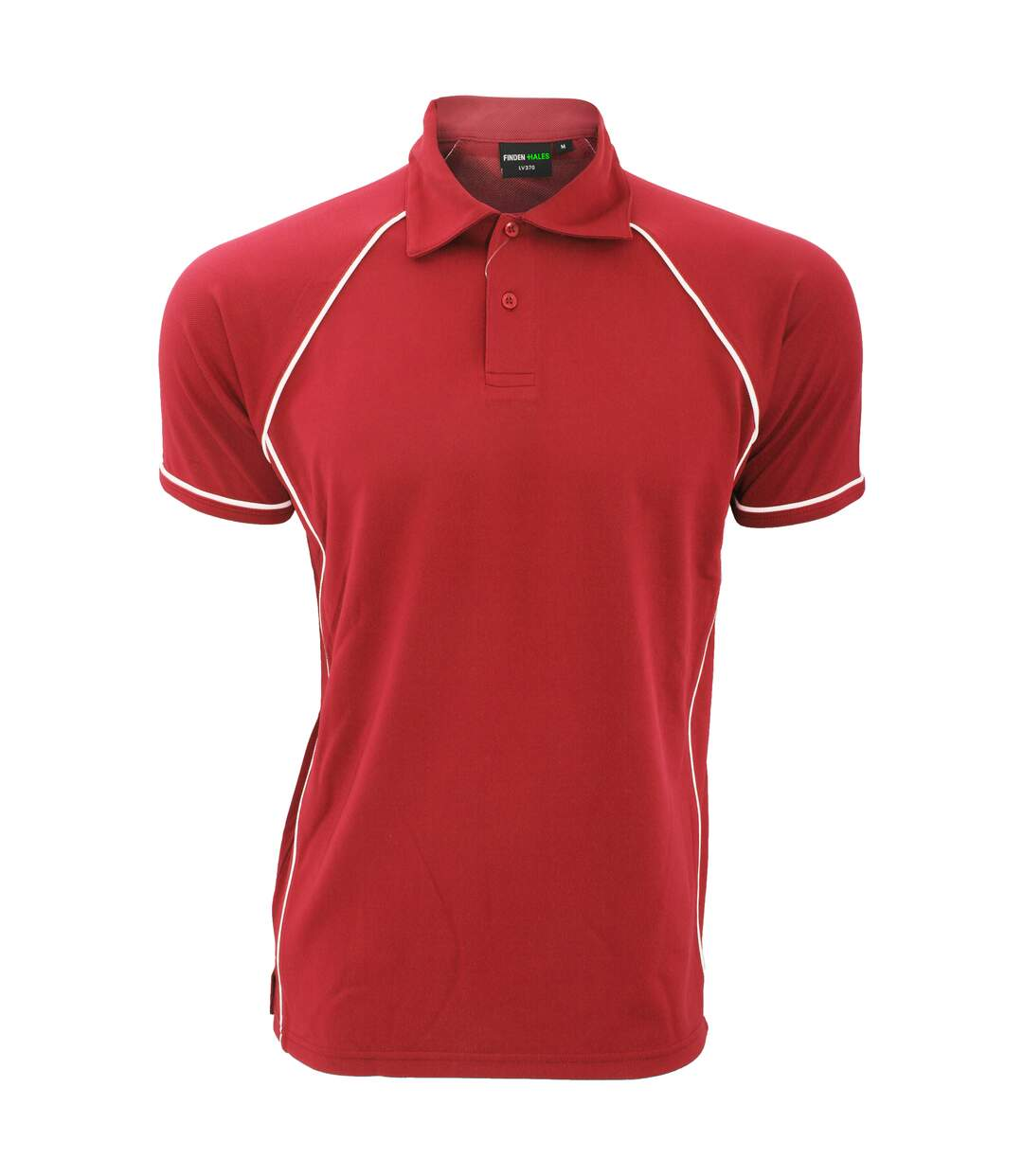 Finden & Hales Mens Piped Performance Sports Polo Shirt (Red/White) - UTRW427
