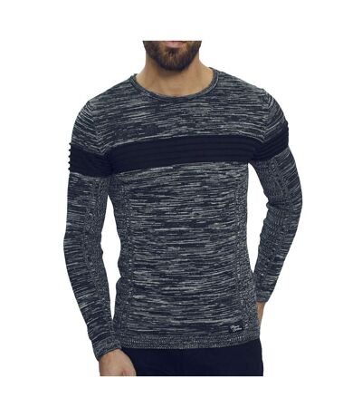 Pull marine chiné homme Paname Brothers PNM206