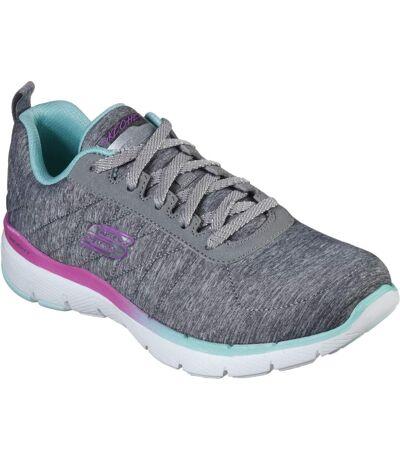 Skechers Womens/Ladies Flex Appeal 3.0 Fan Craze Trainer (Grey) - UTFS7025