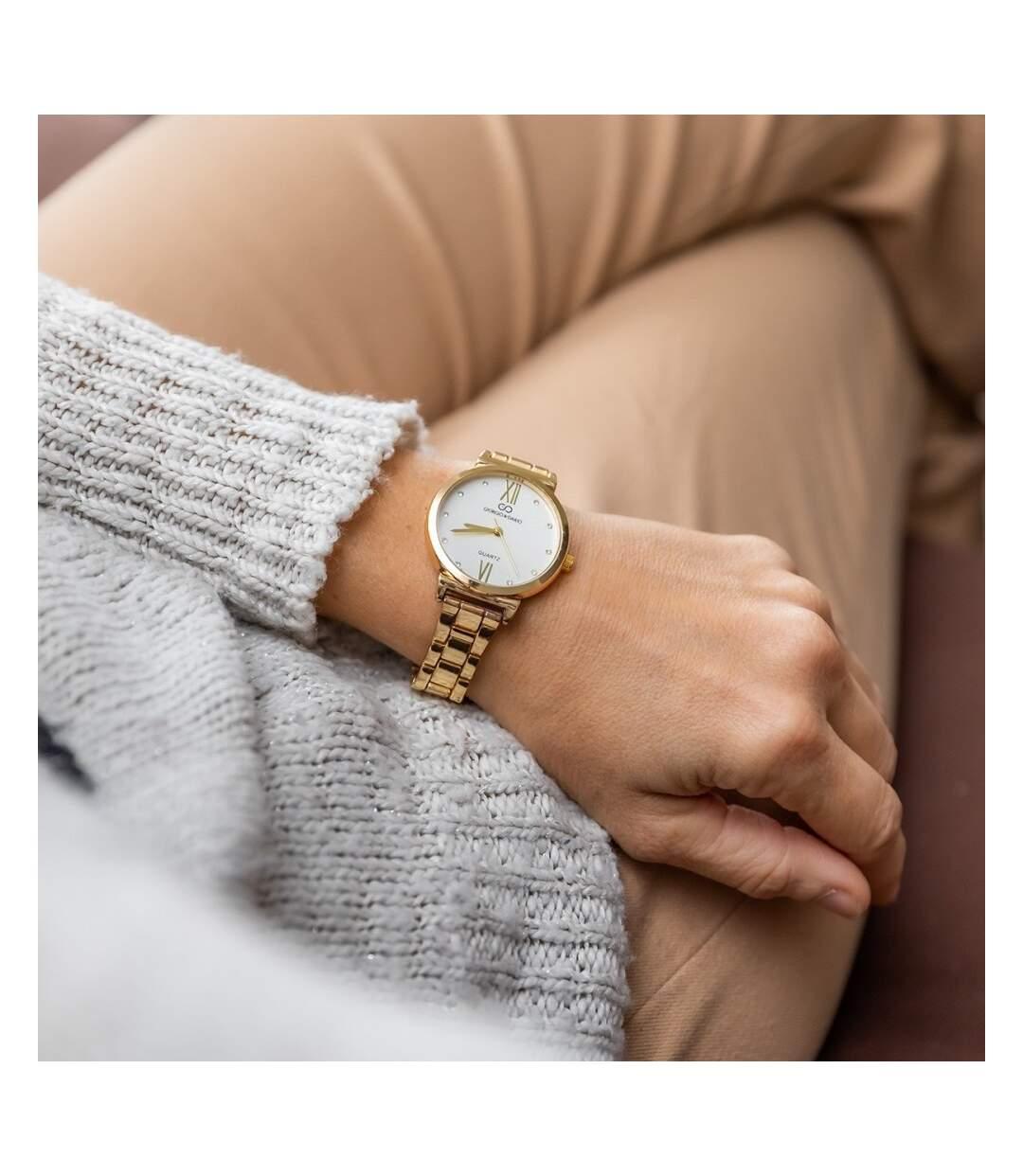 Montre Femme GIORGIO bracelet Acier Doré