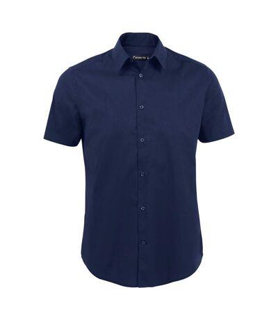 SOLS Mens Broadway Short Sleeve Fitted Work Shirt (Dark Blue) - UTPC394