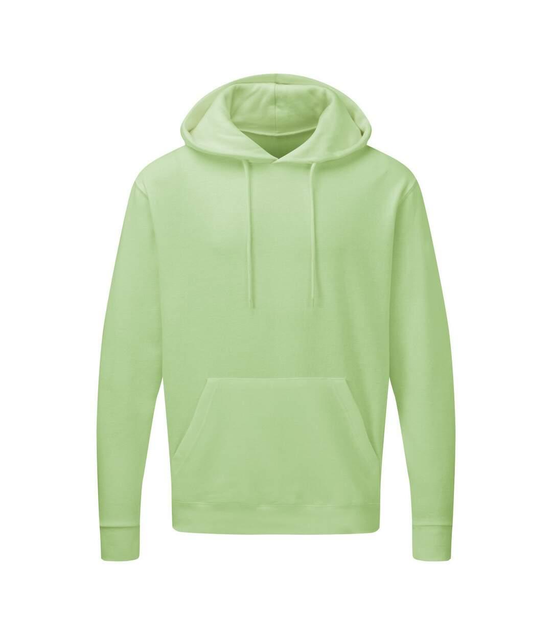 SG Mens Plain Hooded Sweatshirt Top / Hoodie (Neo Mint) - UTBC1072