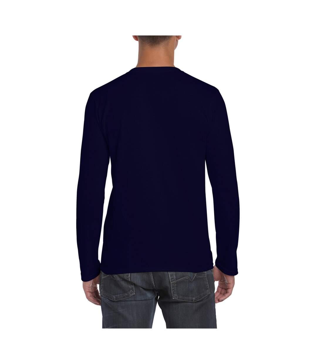 Gildan Mens Soft Style Long Sleeve T-Shirt (Pack Of 5) (Navy) - UTBC4808