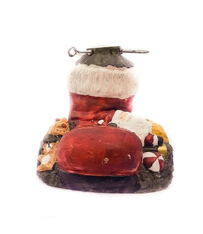 Pied de sapin Botte Père Noel - Réglable - Rouge