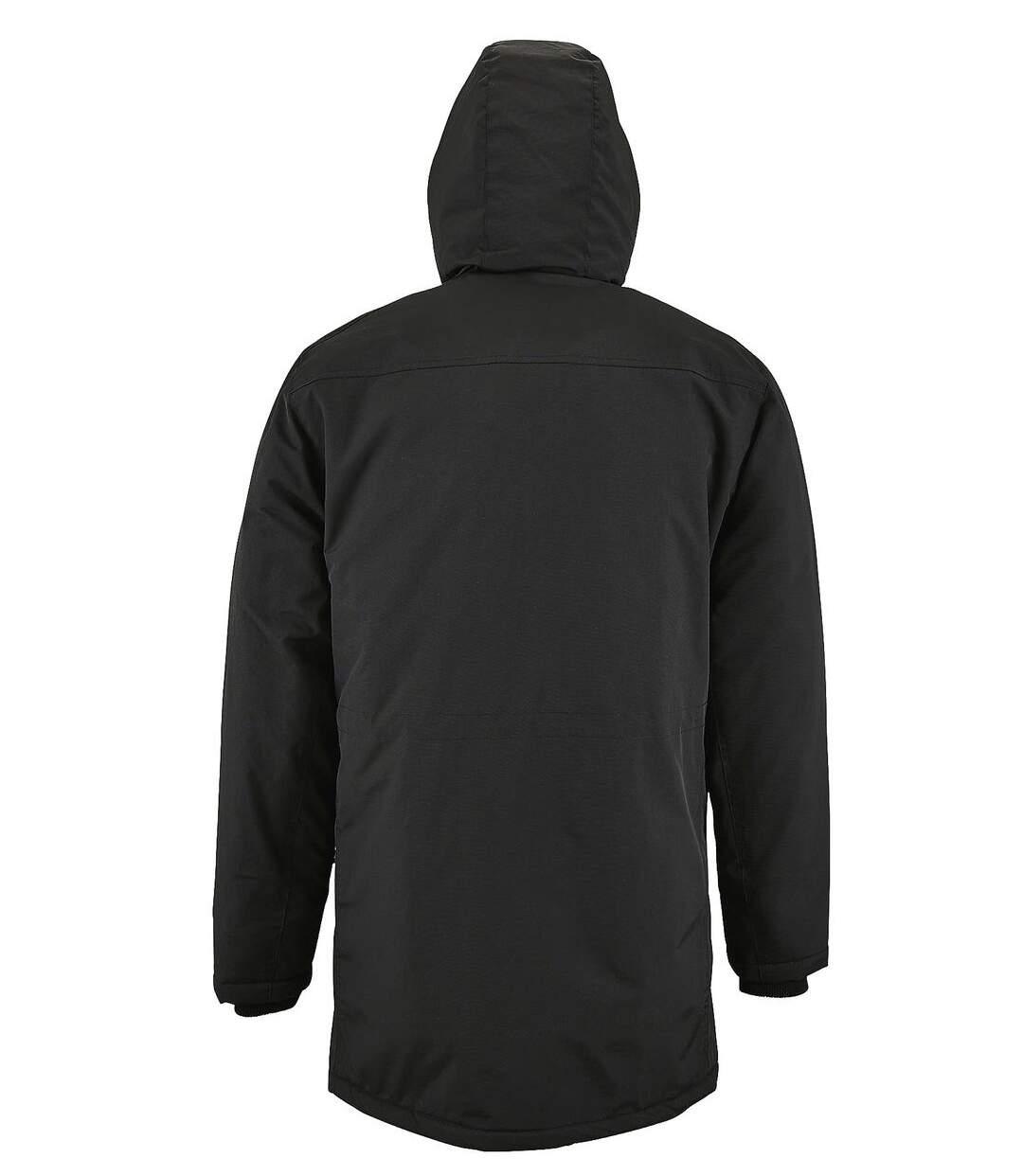 Parka à capuche imperméable homme - 02105 - noir