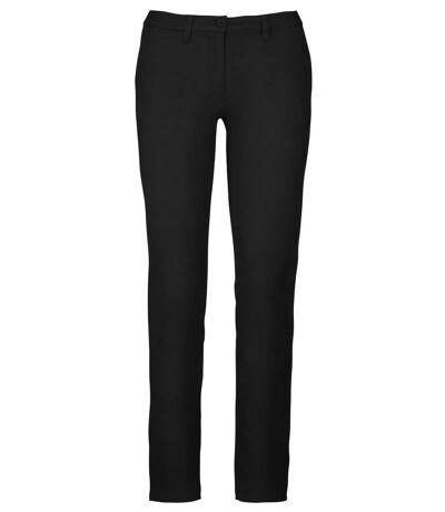 pantalon chino pour femme - K741 - noir