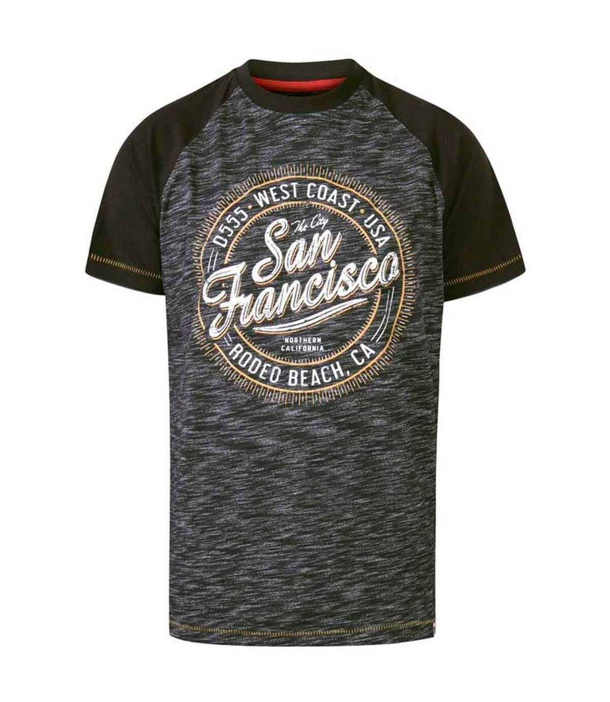 Duke Mens Sunderland D555 San Francisco Raglan T-Shirt (Black Reno) - UTDC289