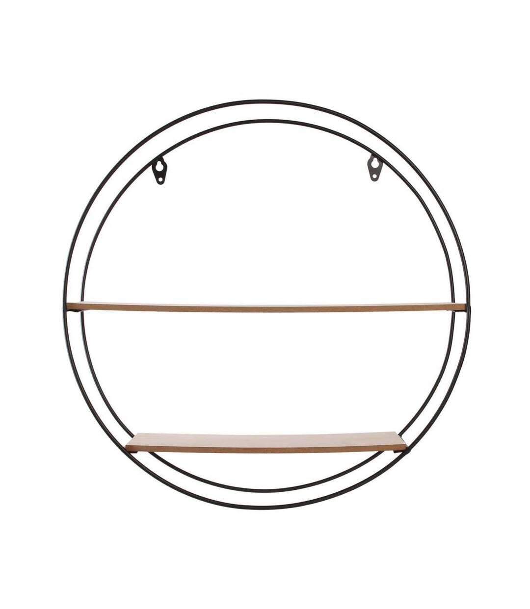 Etagère en bois et métal ronde 40 cm