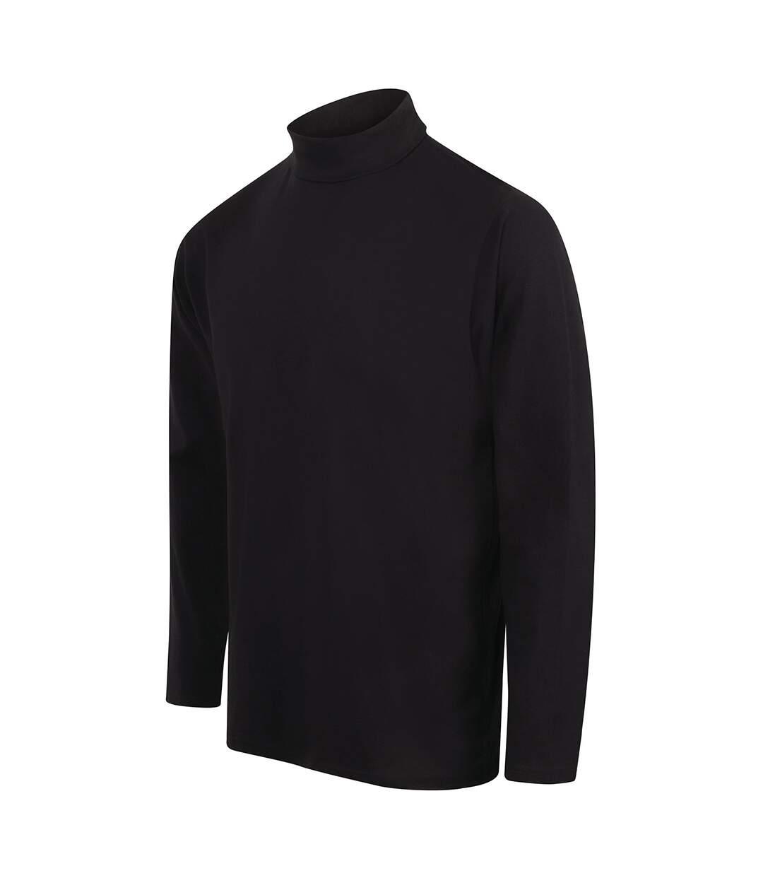 Henbury Mens Long Sleeve Cotton Rich Roll Neck Top / Sweatshirt (Navy) - UTRW615