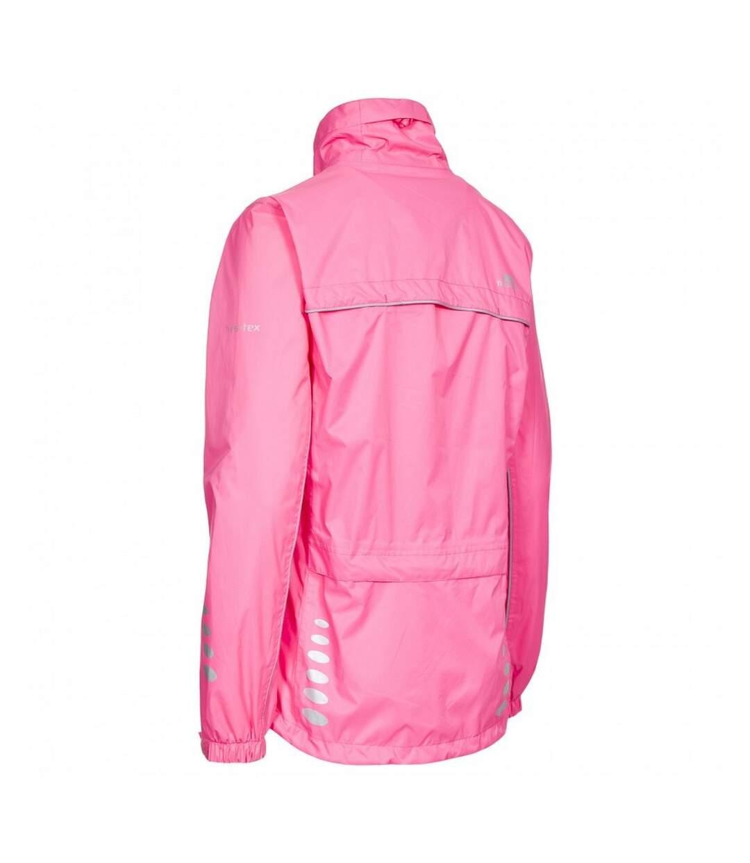 Trespass Womens/Ladies Fairing Waterproof Active Jacket (Hi-Vis Pink) - UTTP174