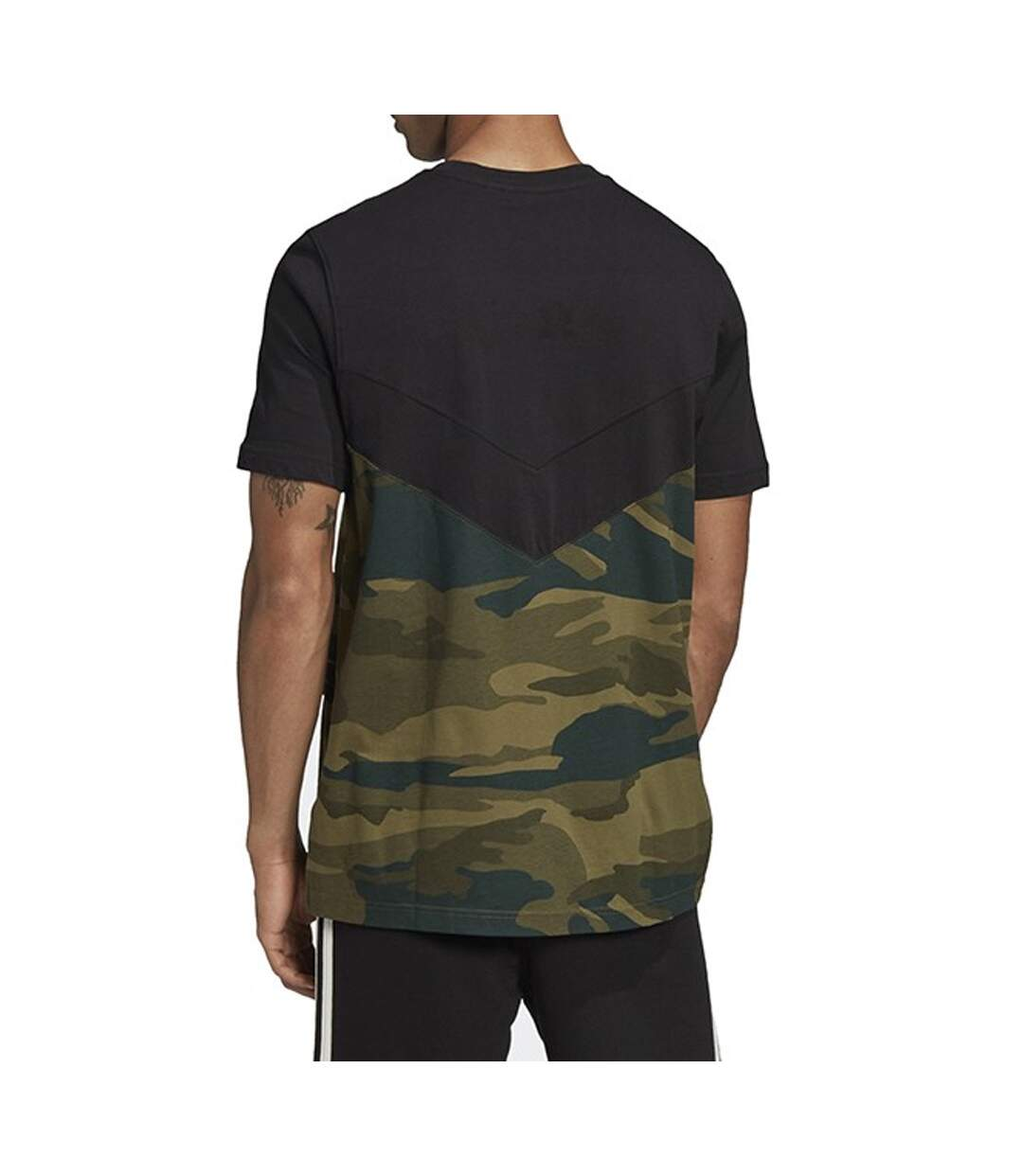 T-shirt Kaki Homme Adidas CAMO BLOCK T