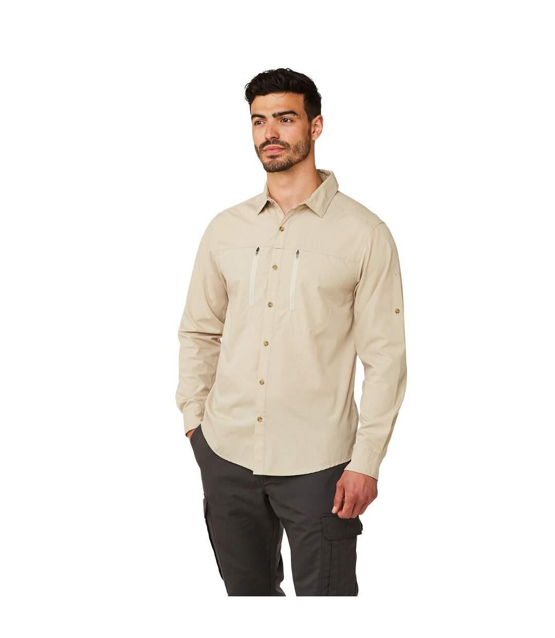 Craghoppers Mens Kiwi Boulder Long Sleeved Shirt (Oatmeal) - UTCG1103