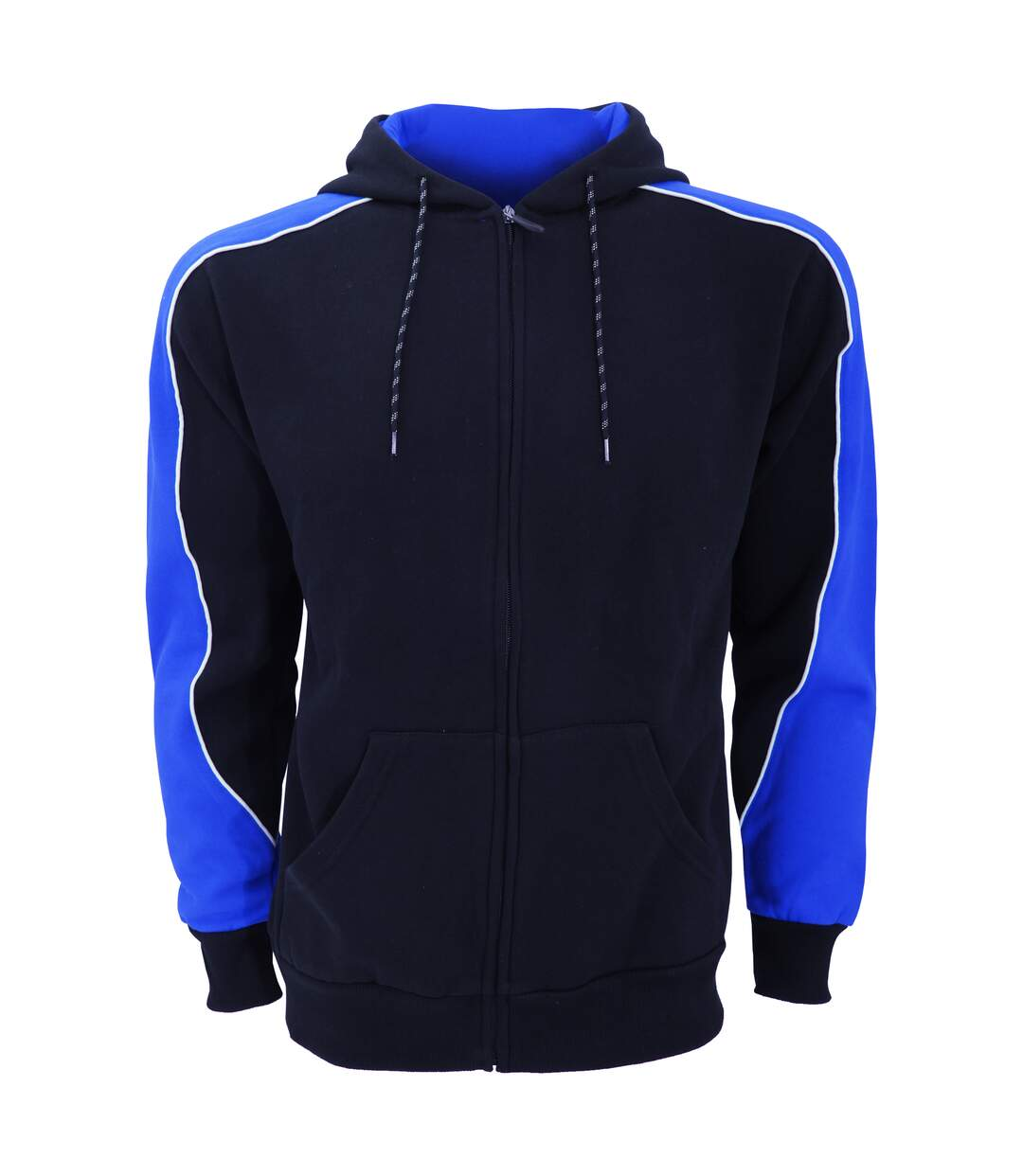 Formula Racing Mens Clubman Full Zip Hooded Jacket / Hoodie (Navy/Light Blue) - UTBC2035