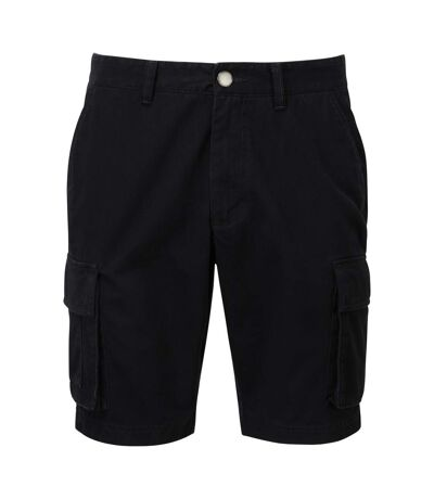 Asquith & Fox Mens Cargo Shorts (Black) - UTRW7678