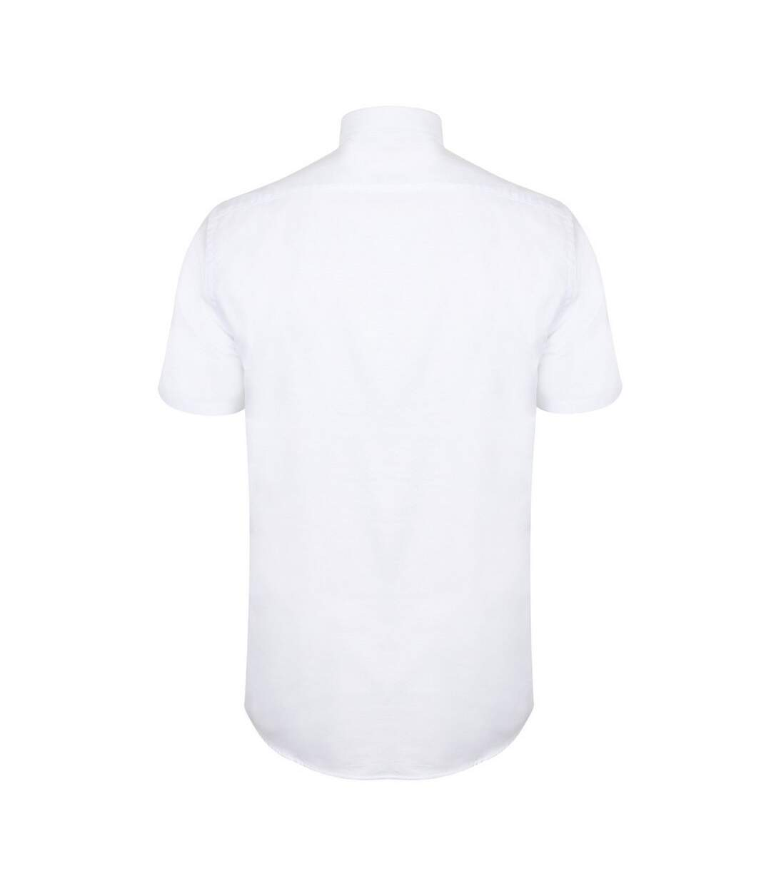 Henbury Mens Modern Short Sleeve Oxford Shirt (White) - UTRW5425