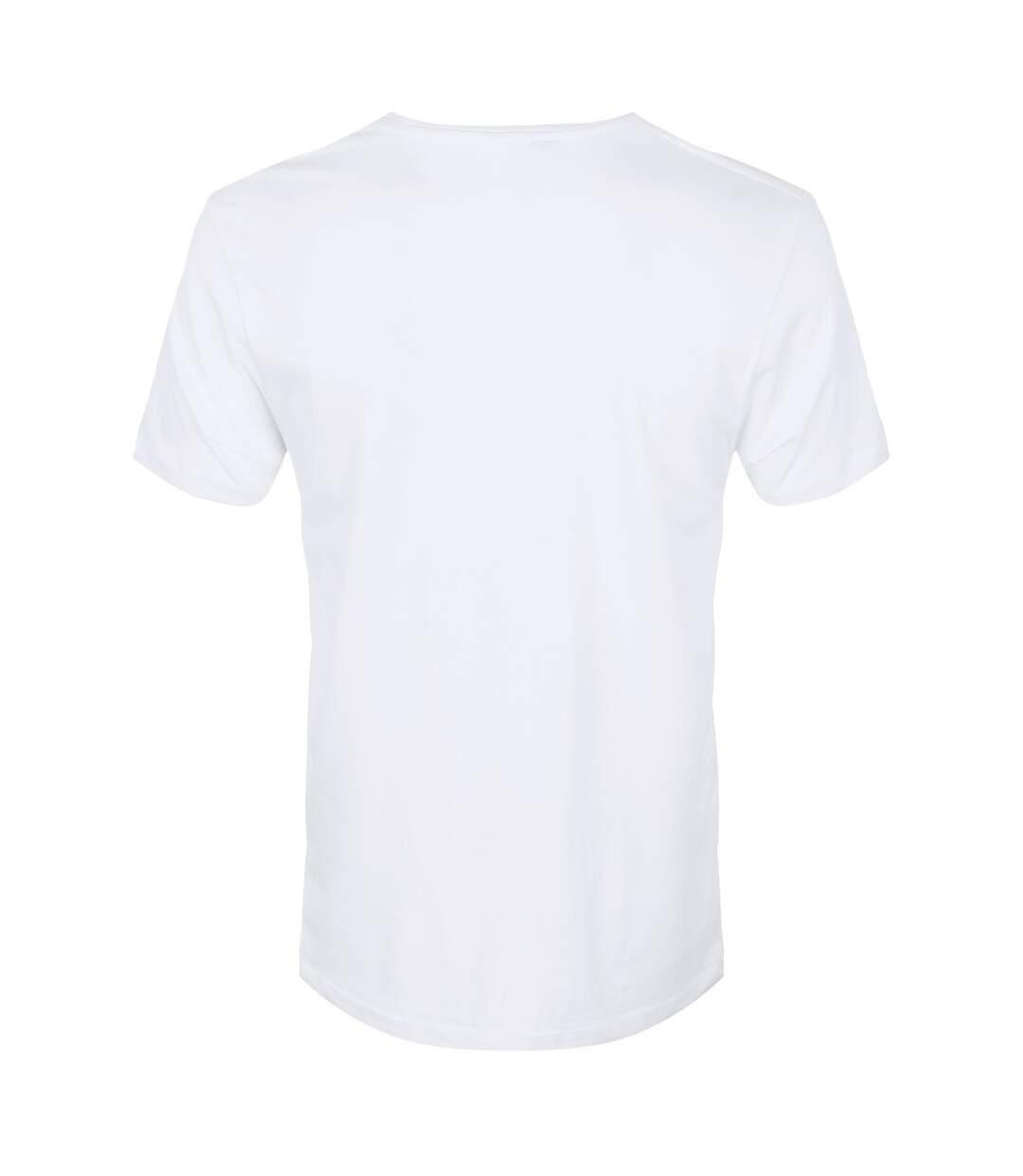 Unorthodox Collective Mens Geometric Python T-Shirt (White) - UTGR3790