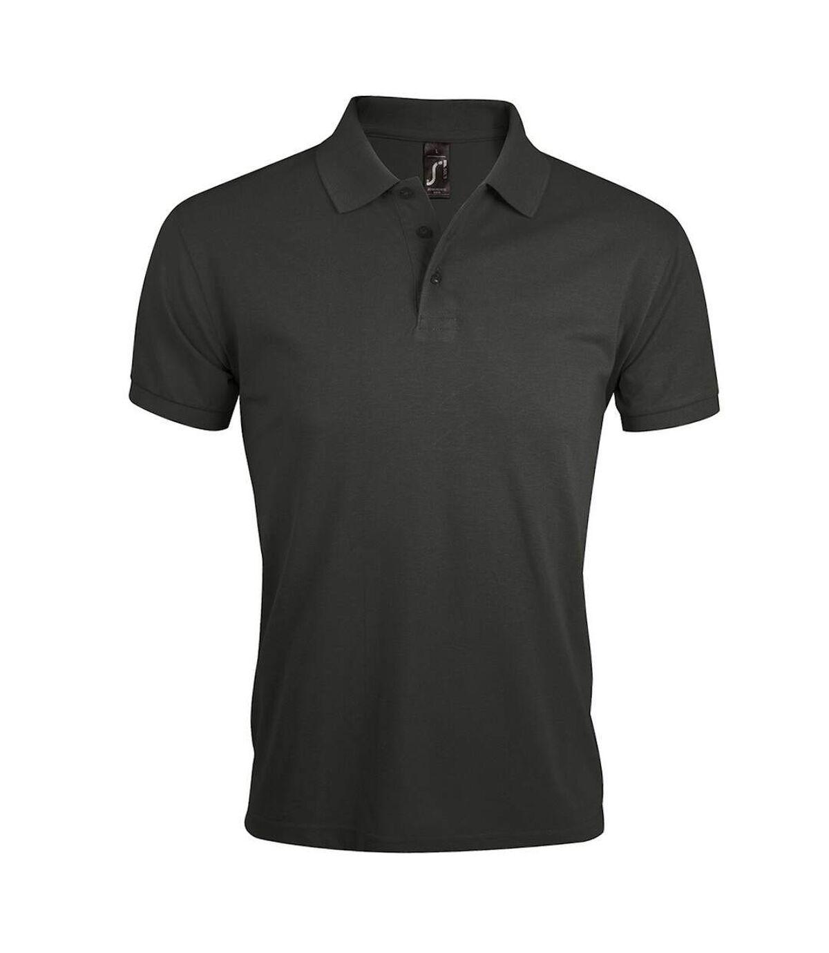 SOLs Mens Prime Pique Plain Short Sleeve Polo Shirt (Dark Grey) - UTPC493