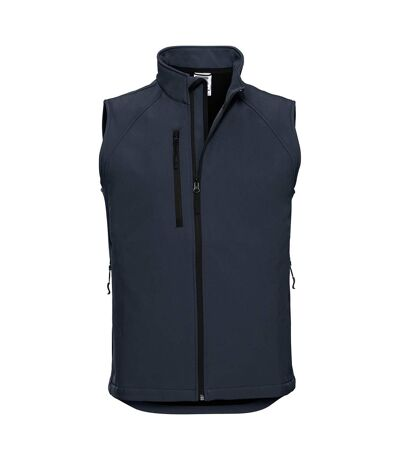 Russell Mens 3 Layer Soft Shell Gilet Jacket (French Navy) - UTBC1513