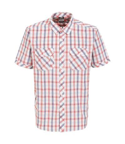 Trespass Mens Hopedale Short Sleeve Check Shirt (Red Check) - UTTP3512