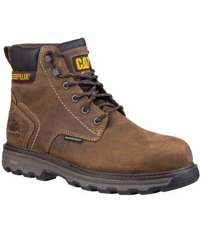 Caterpillar Mens Precision Lace Up Leather Boot (Dark Brown) - UTFS6116