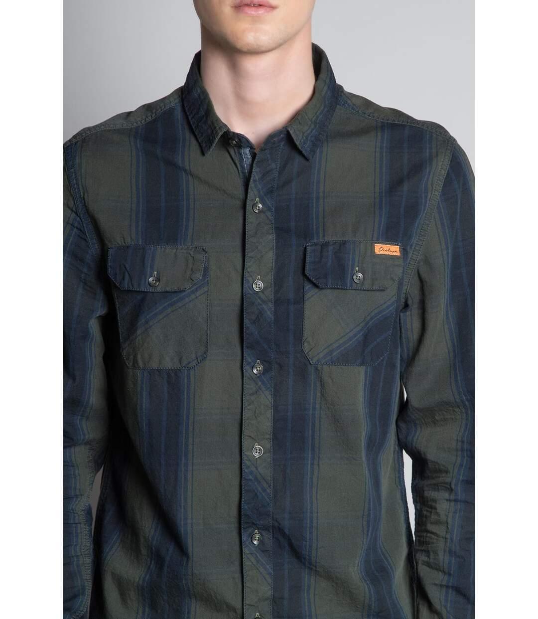 Chemise à carreaux TILBURG Khaki