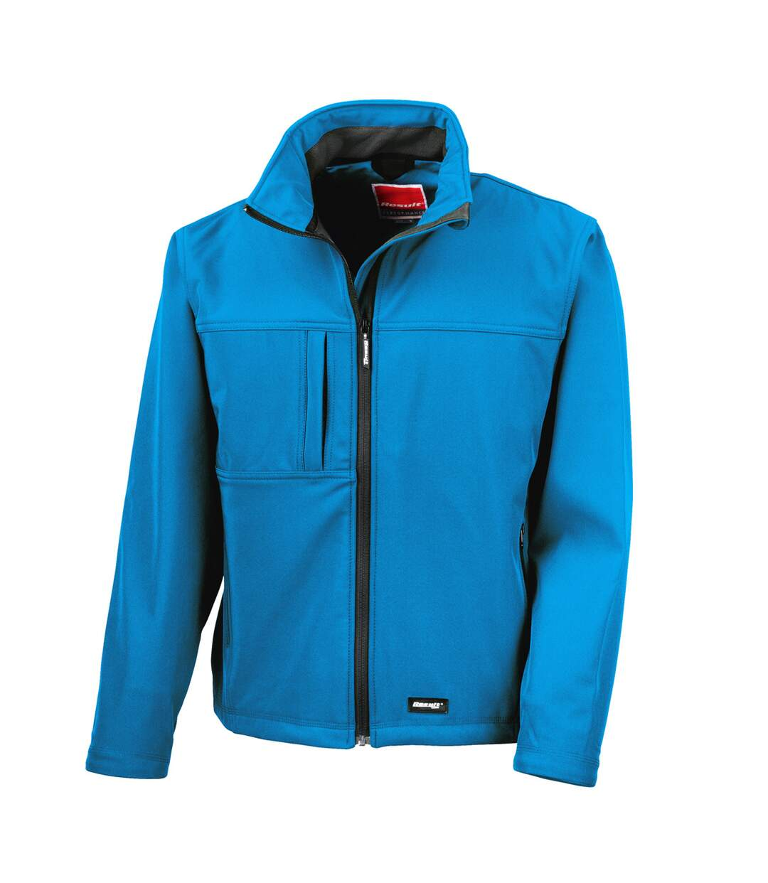 Result Mens Softshell Premium 3 Layer Performance Jacket (Waterproof, Windproof & Breathable) (Azure Blue) - UTBC2046