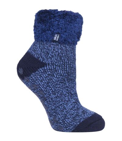 Womens Thermal Bed Socks with Non Slip Grips