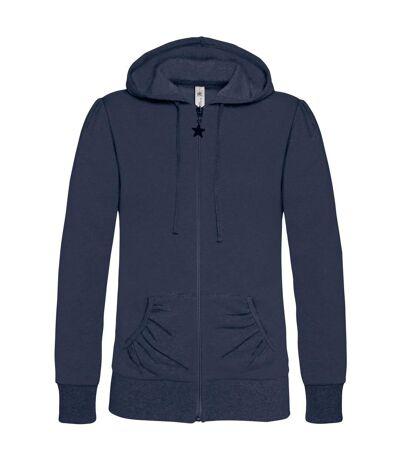B&C - Sweatshirt à capuche et fermeture zippée - Femme (Bleu marine) - UTBC2014