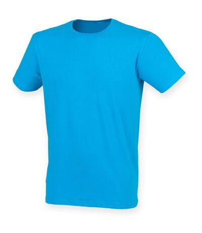 Skinni Fit Men Mens Feel Good Stretch Short Sleeve T-Shirt (Sapphire) - UTRW4427