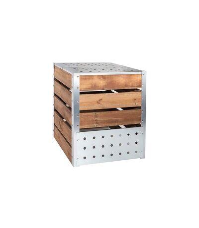 Silo à compost acier et bois 470L