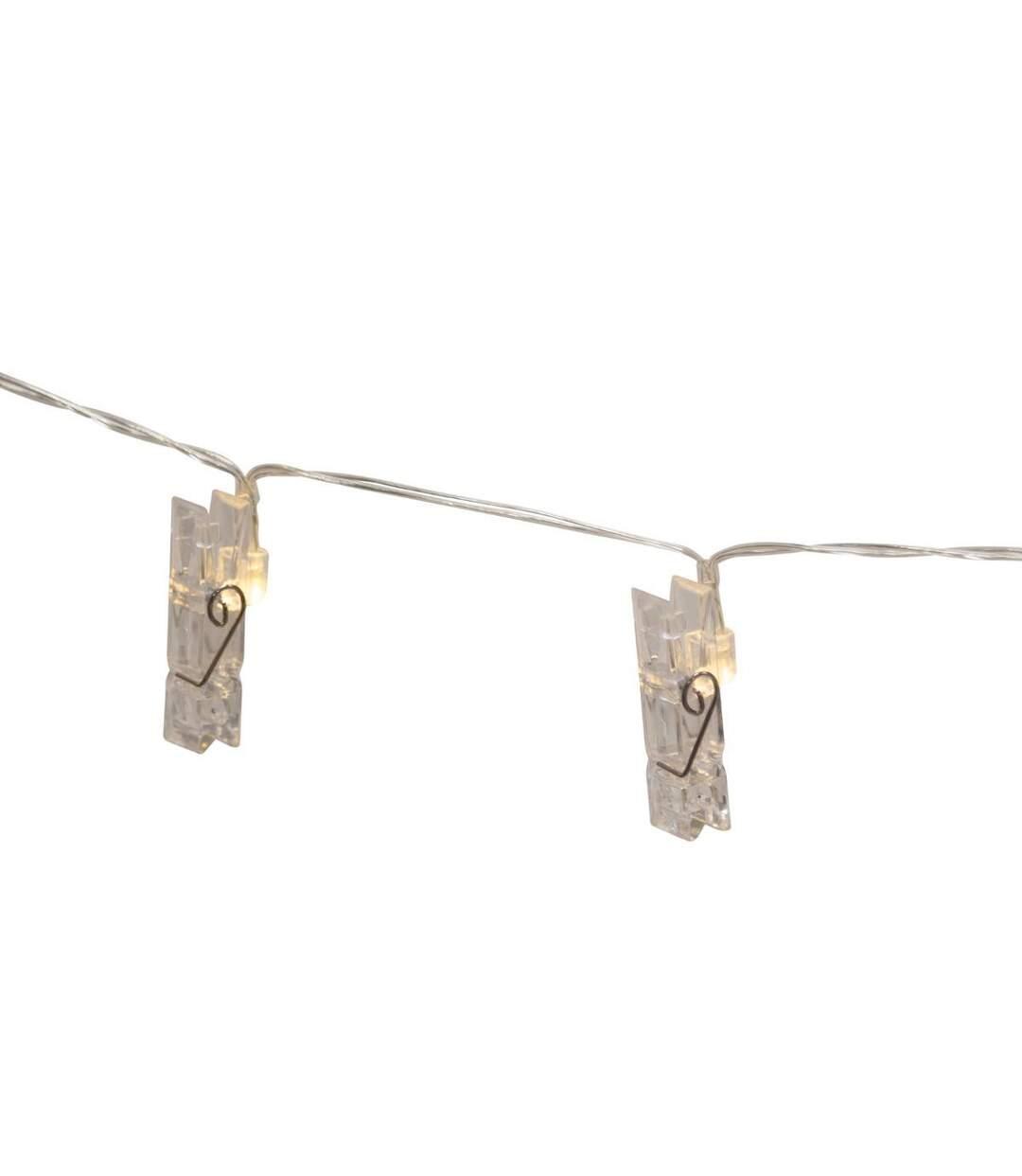Atmosphera - Guirlande lumineuse 10 pinces LED fonctionne à piles