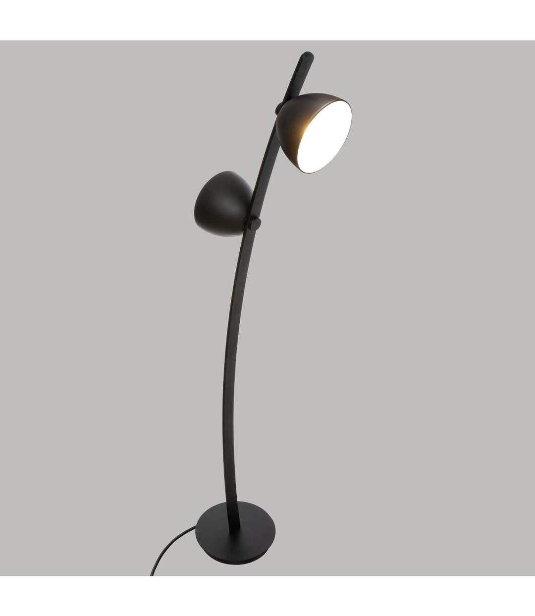 Atmosphera - Lampadaire double éclairage en Métal Noir H 147 cm