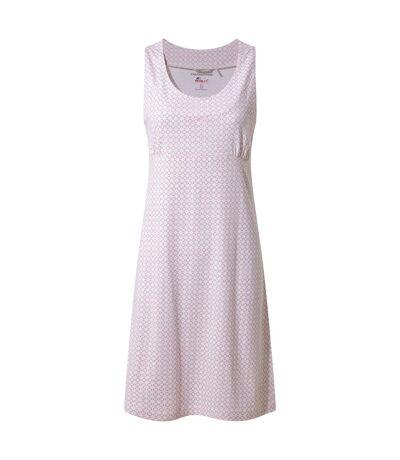 Craghoppers - Robe SIENNA - Femme (Blanc/rose) - UTCG1059