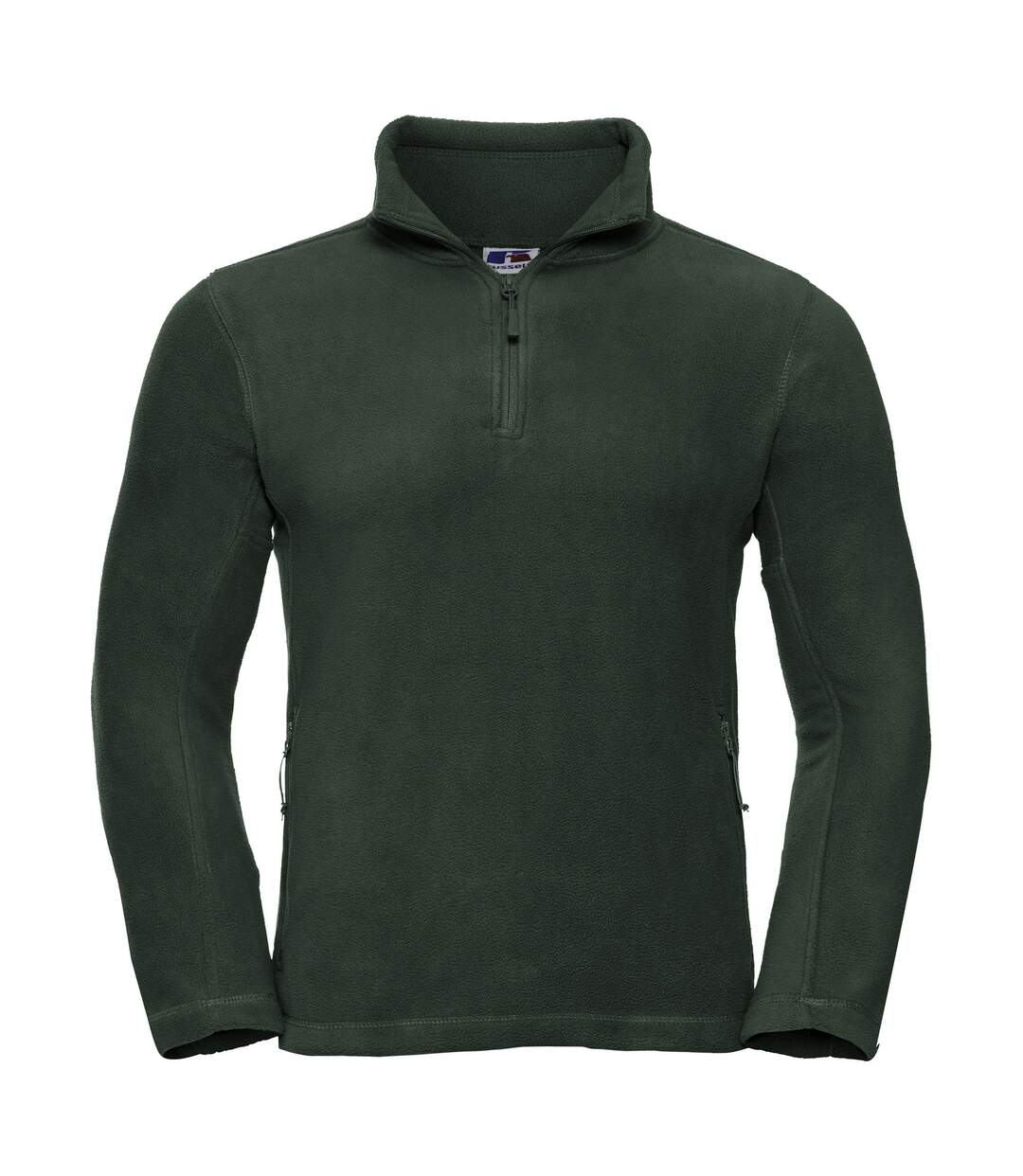 Russell Mens 1/4 Zip Outdoor Fleece Top (Bottle Green) - UTBC1438