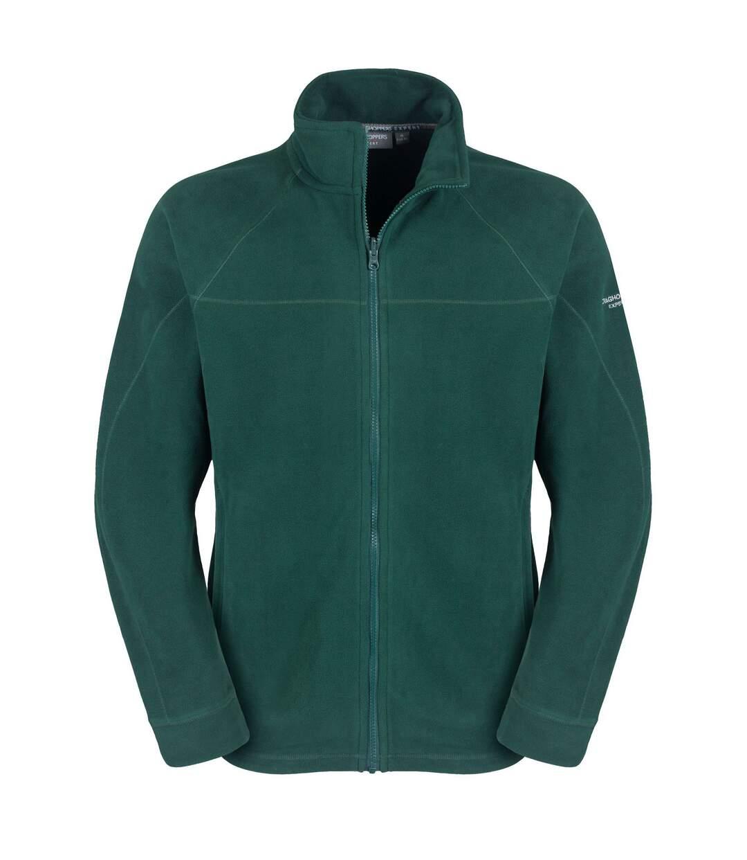 Craghoppers Mens Expert Basecamp Microfleece Full Zip Jacket (Dark Green) - UTCG794