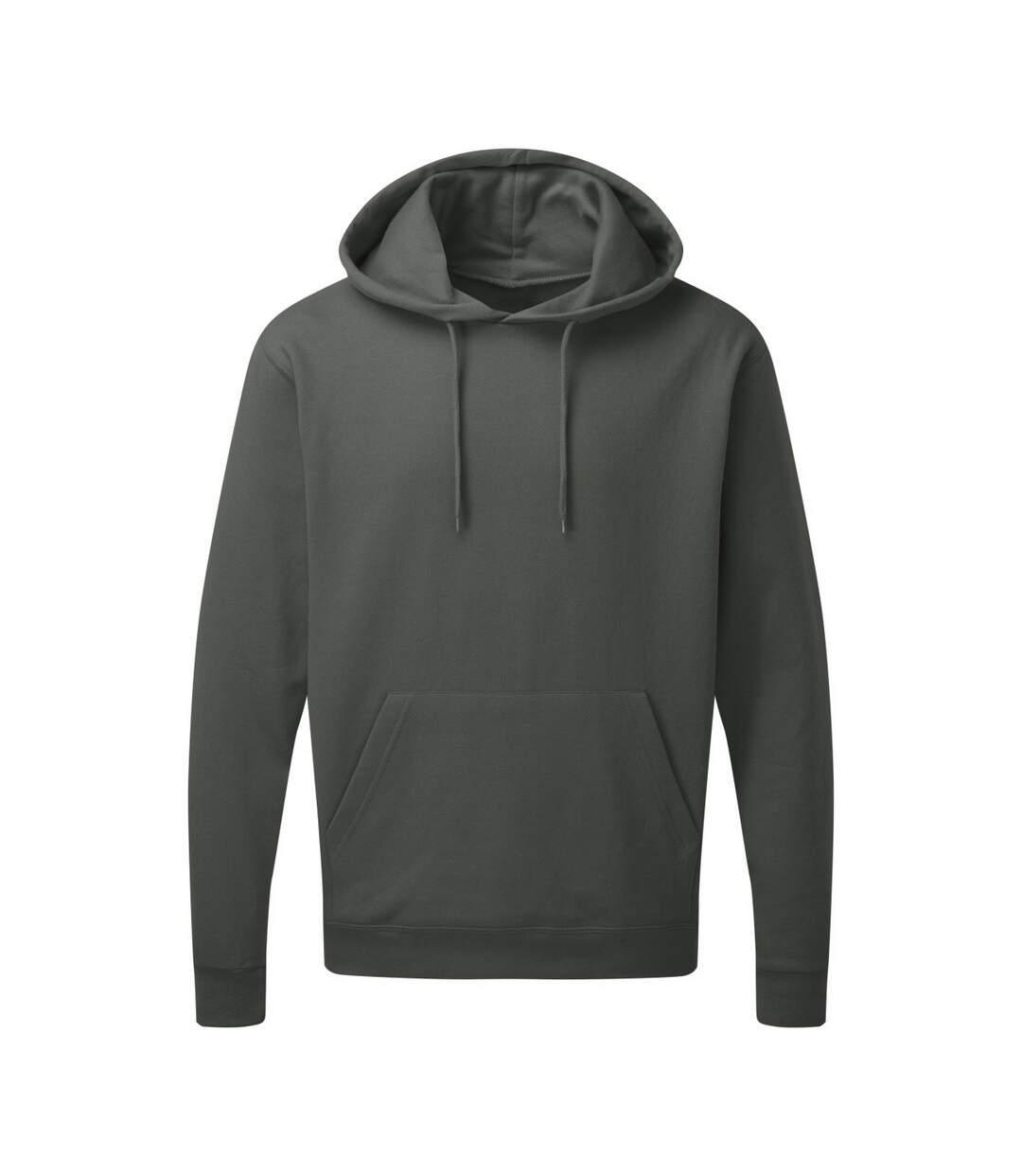 SG Mens Plain Hooded Sweatshirt Top / Hoodie (Charcoal) - UTBC1072