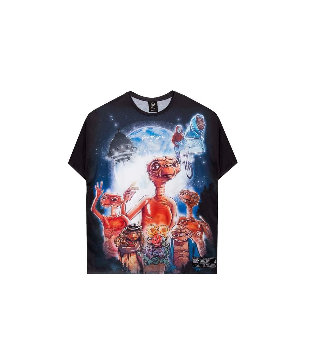 Hype T-shirt unisexe adulte graphique E.T surdimensionné (Multicolore) - UTHY4669