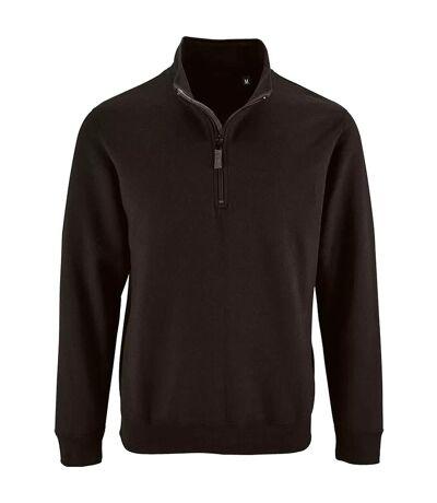 SOLS Mens Stan Contrast Zip Neck Sweatshirt (Black) - UTPC3172