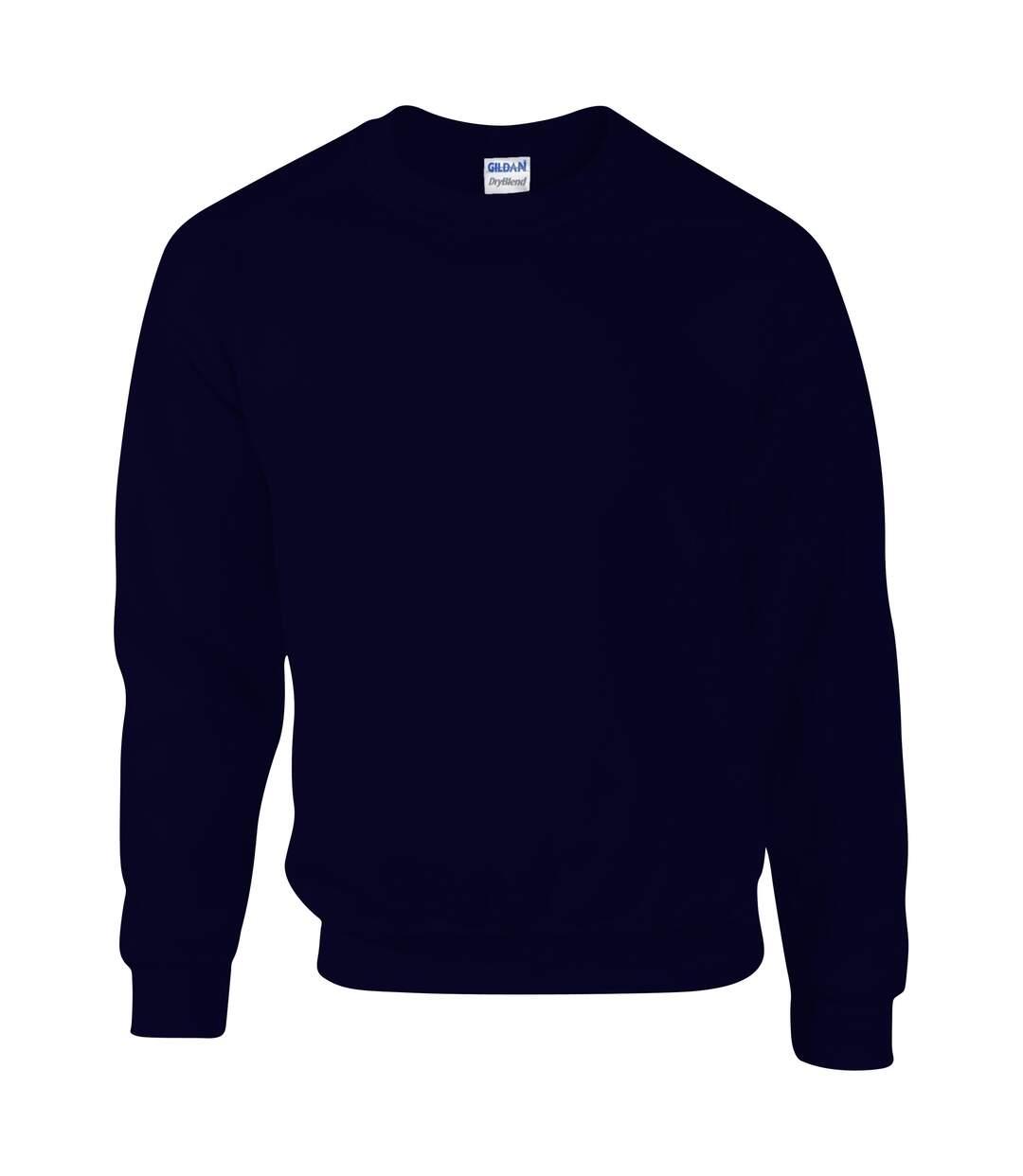 Gildan DryBlend Adult Set-In Crew Neck Sweatshirt (13 Colours) (Black) - UTBC459