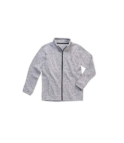 Stedman Mens Active Knitted Fleece (Light Grey Melange) - UTAB328