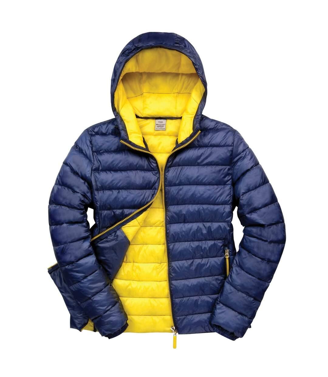 Result Urban Mens Snowbird Hooded Jacket (Black/Lime Green) - UTBC3255