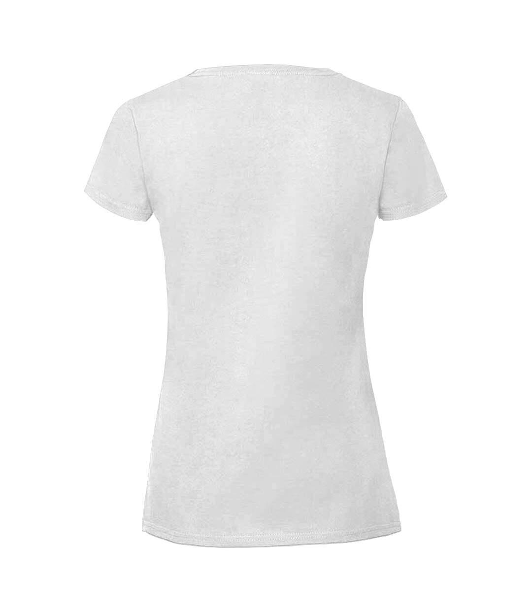 Fruit Of The Loom - T-Shirt Ajusté De Qualité - Femme (Blanc) - UTRW5975