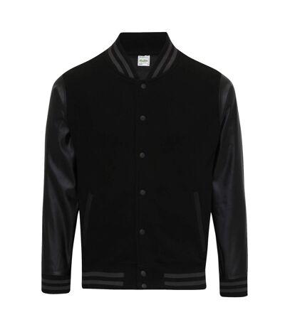 AWDis - Veste baseball - Hommes (Rouge / noir) - UTRW6022