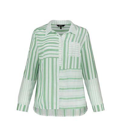 Tunique légère, rayures, col chemise, boutons