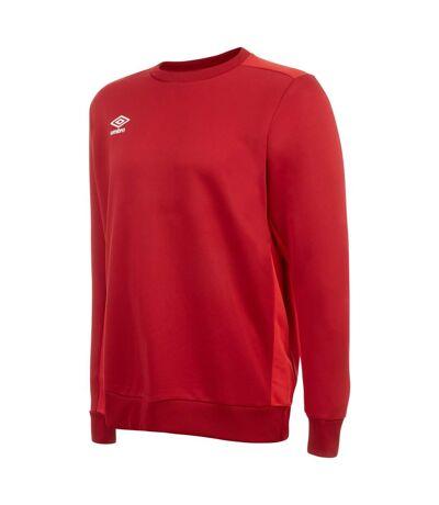 Umbro Mens Fleece Training Sweatshirt (Jester Red/Vermillion) - UTGD105